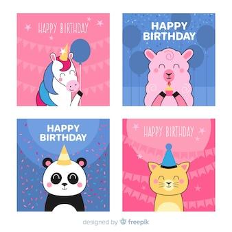 Coleção de cartão de convite de aniversário