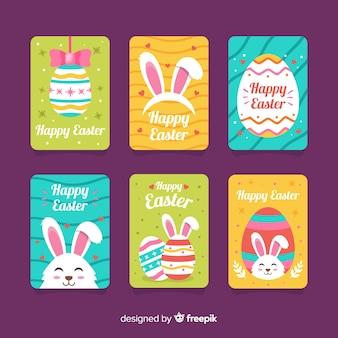 Coleção de cartão de dia de páscoa