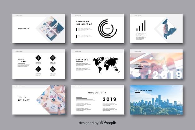 Coleção de cartão de escritório de negócios