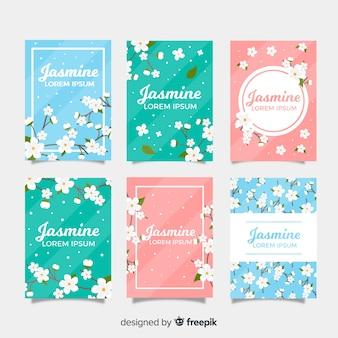 Coleção de cartão de jasmim