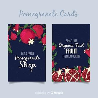 Coleção de cartão de romã