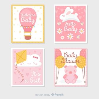 Coleção de cartão do chuveiro de bebê