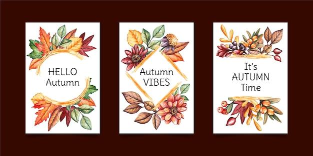 Coleção de cartas de outono
