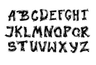 Coleção de cartas do alfabeto
