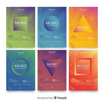 Coleção de cartaz de festival de música