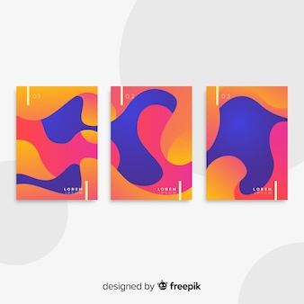 Coleção de cartaz de formas fluidas
