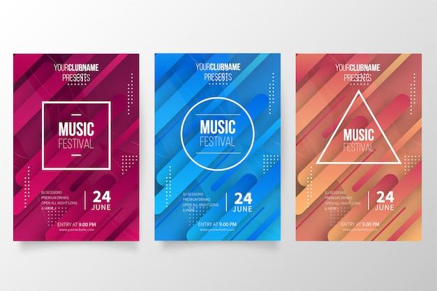Coleção de cartaz de música moderna