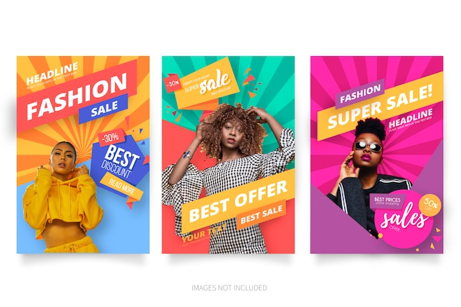 Coleção de cartaz de venda de moda moderna
