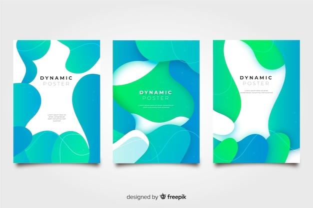 Coleção de cartazes dinâmicos