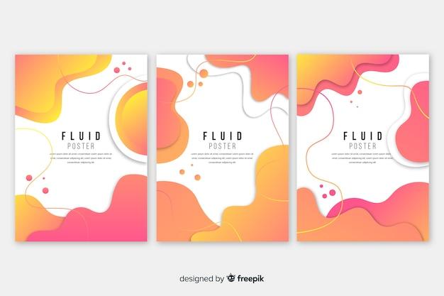 Coleção de cartazes fluidos