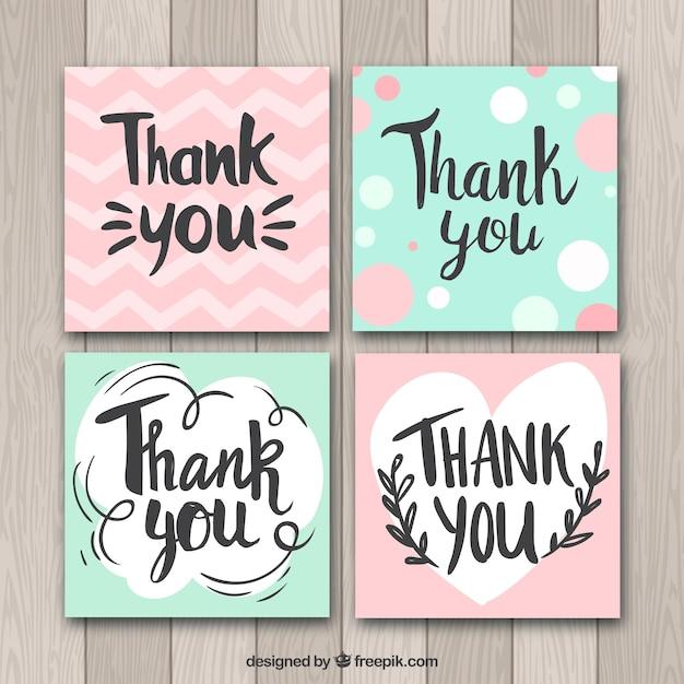 cartoes de agradecimento