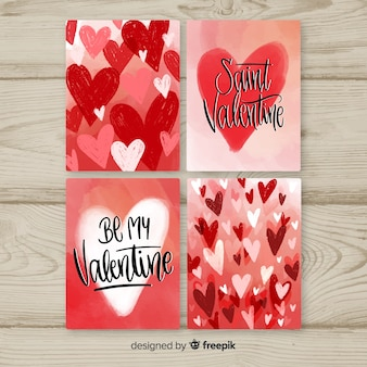 Coleção de cartões de amor