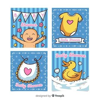 Coleção de cartões de chá de bebê