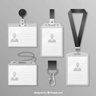Coleção de cartões de identificação