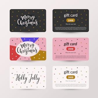 Coleção de cartões de presente de natal