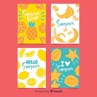 Coleção de cartões de verão