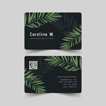 Coleção de cartões de visita com motivos naturais