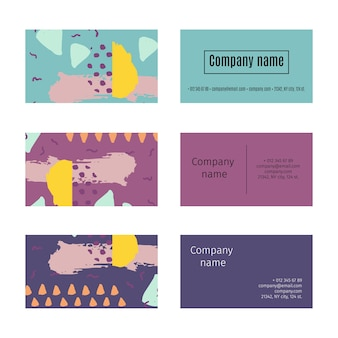 Coleção de cartões de visita