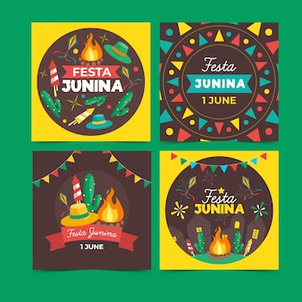 Coleção de cartões festa junina