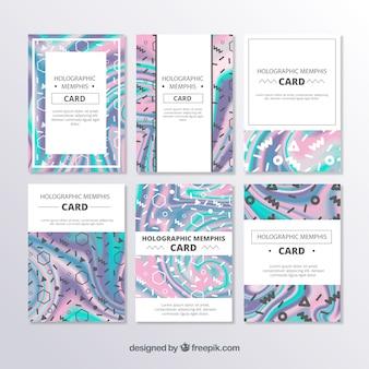 Coleção de cartões holográficos