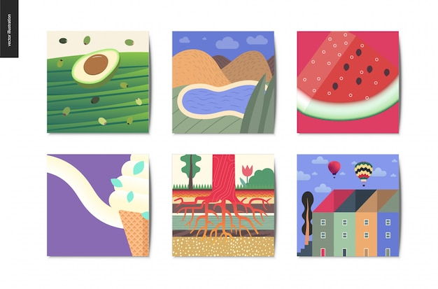 Coleção de cartões postais