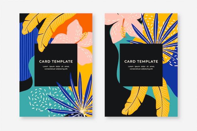 Coleção de cartões tropicais
