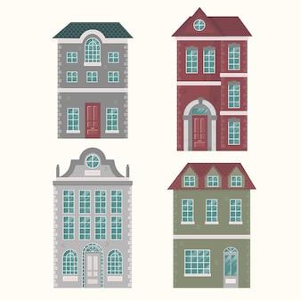 Coleção de casa de design plano