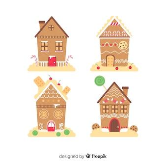 Coleção de casa de gengibre