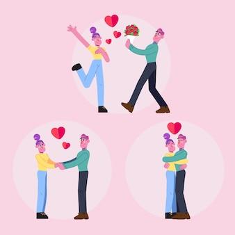 Coleção de casal apaixonado