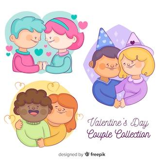 Coleção de casal colorido dos namorados