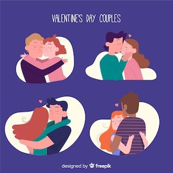 Coleção de casal de dia dos namorados