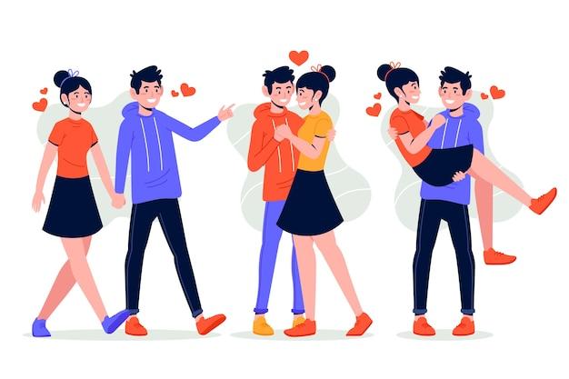 Coleção de casal lindo dia dos namorados