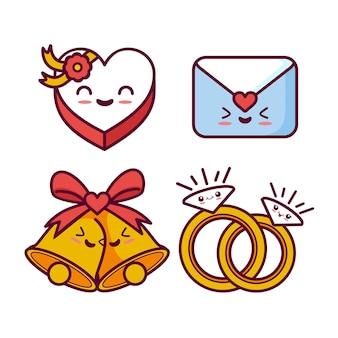 Coleção de casamento kawaii
