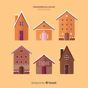 Coleção de casas de gengibre