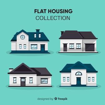 Coleção de casas diferentes