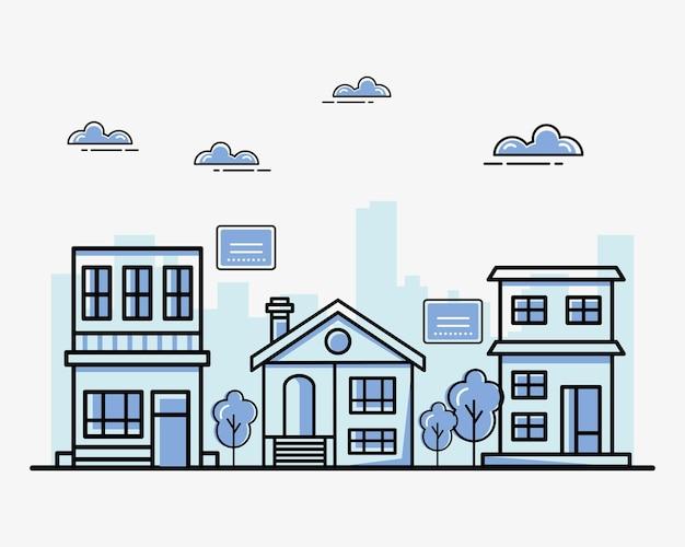 Coleção de casas imobiliárias