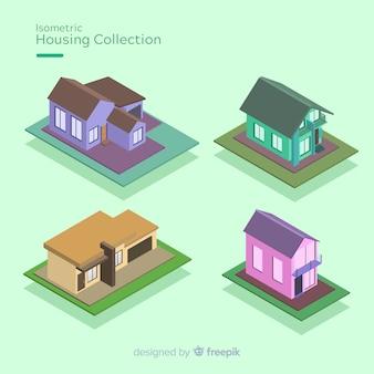 Coleção de casas isométricas