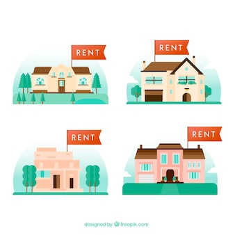 Coleção de casas para aluguel