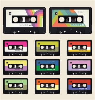 Coleção de cassetes vintage