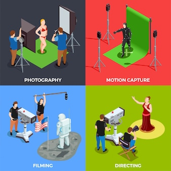 Coleção de cena do cinematógrafo