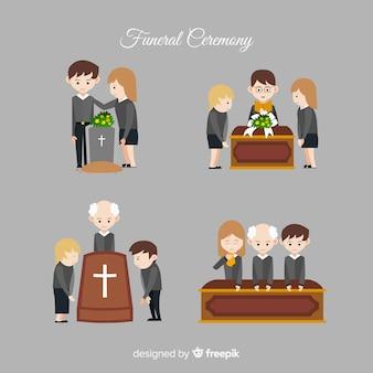 Coleção de cena fúnebre