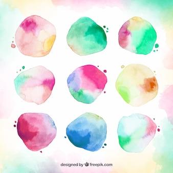 Coleção de cetim aquarela colorida
