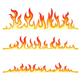 Coleção de chamas de fogo