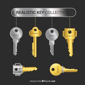 Coleção de chave realista