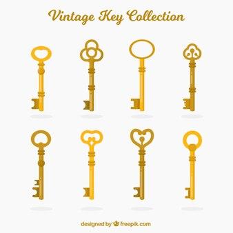 Coleção de chaves vintage