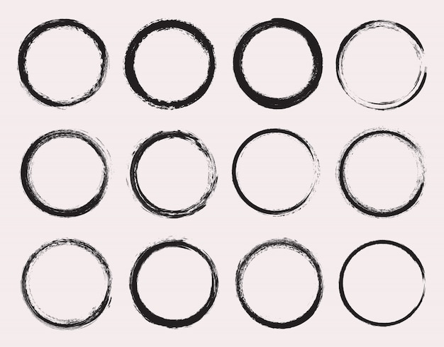 Coleção de círculos do grunge