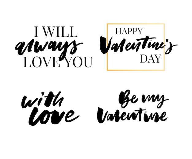 Coleção de citação de dia dos namorados
