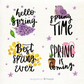 Coleção de citações de letras de primavera