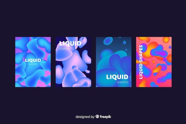 Coleção de cobertura de efeito líquido colorido