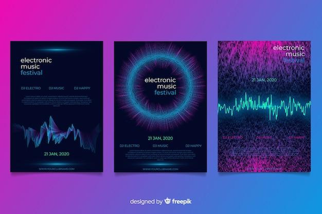 Coleção de cobertura de som wave